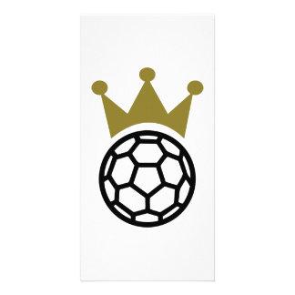 Handball crown champion personalized photo card