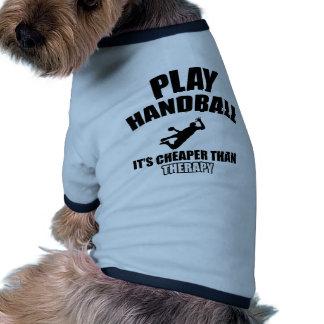 Handball designs dog t-shirt