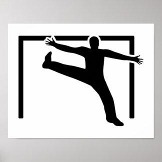 Handball goalkeeper poster