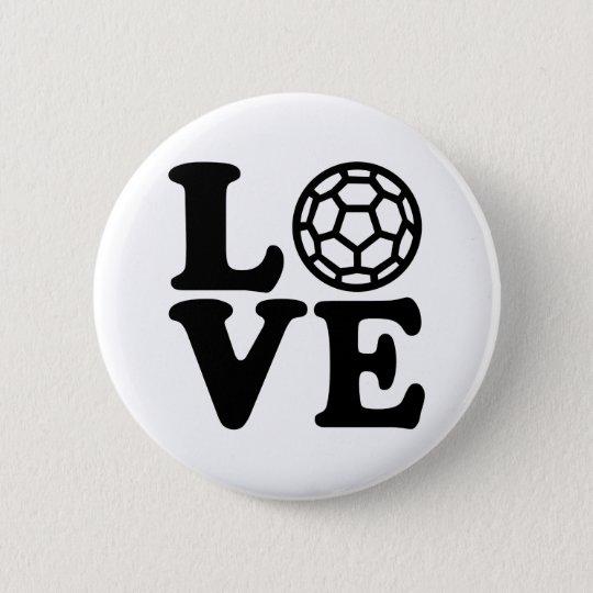Handball love 6 cm round badge