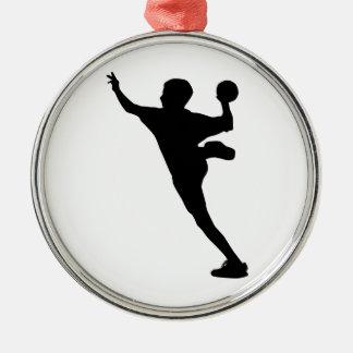 handball player christmas ornament