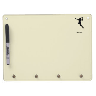Handball Player Dry Erase Board With Key Ring Holder