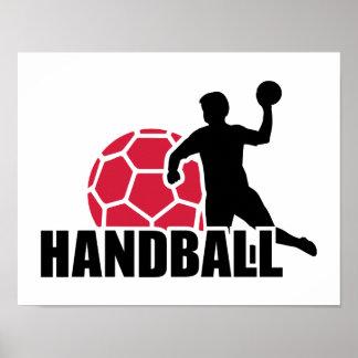 Handball player poster
