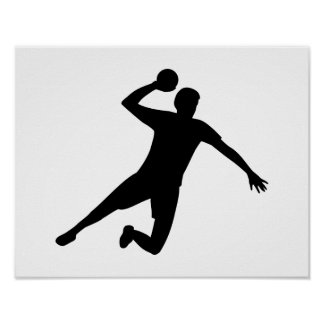 Handball player poster