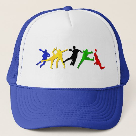 handball players andebol games truckers hat cap
