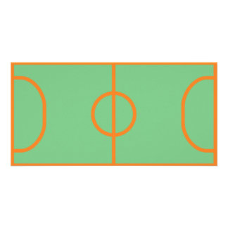 handball playing field icon custom photo card