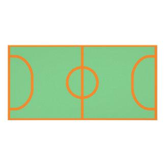 handball playing field icon customized photo card