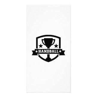 Handball trophy photo card