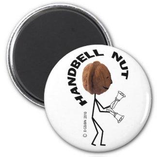 Handbell Nut 6 Cm Round Magnet