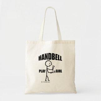 Handbell Play Girl Budget Tote Bag
