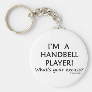 Handbell Player Excuse Basic Round Button Key Ring