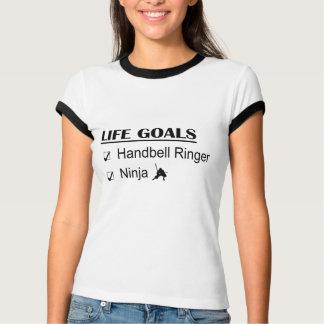 Handbell Ringer Ninja Life Goals T-Shirt