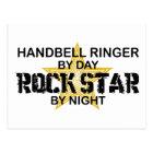 Handbell RInger Rock Star by Night Postcard