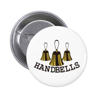 Handbells 6 Cm Round Badge