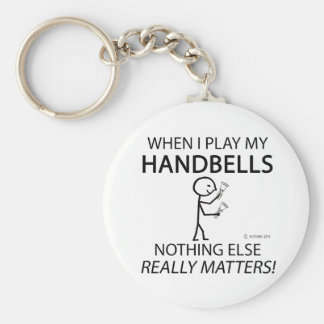 Handbells Nothing Else Matters Basic Round Button Key Ring