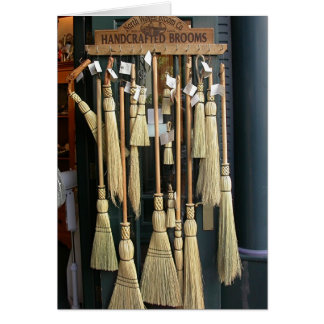 Handcrafted Brooms Greeting Card