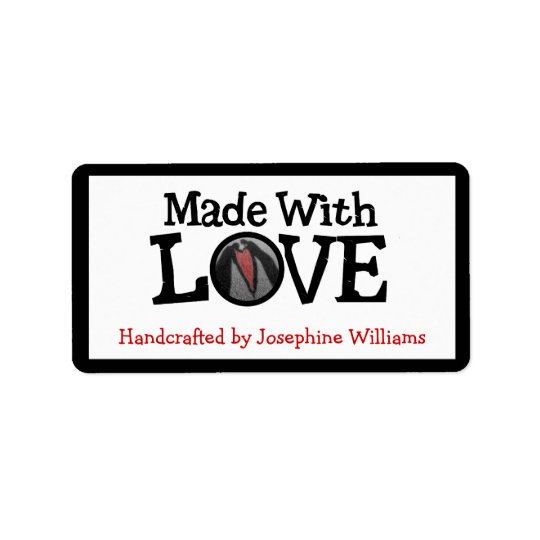 Handcrafted by and Made With LOVE Address Label