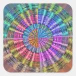 Handcrafted Native Folkart Basket Weave Pattern Square Sticker