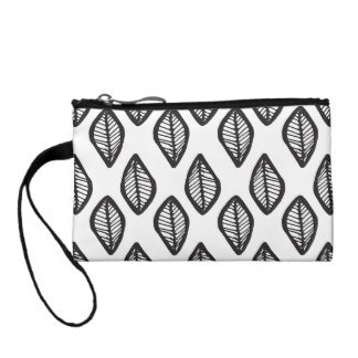 Handdrawn Leaves pattern clutch