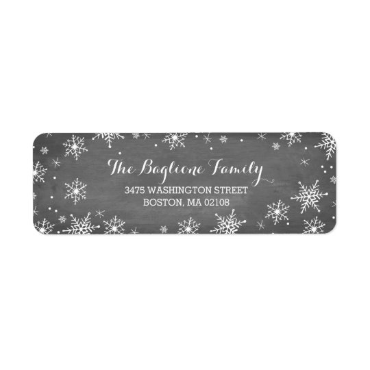Handdrawn Snowflakes Collection Return Address Label