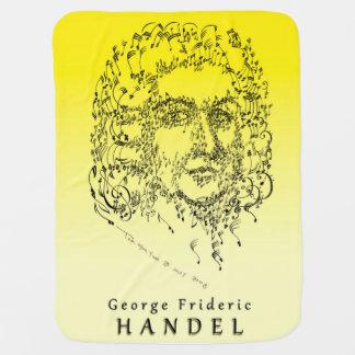 Handel: Face the Music Baby Blanket