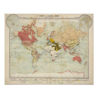 Handels Colonial Atlas Map Poster