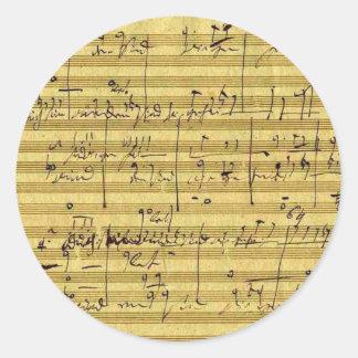 Handel's Messiah Classic Round Sticker