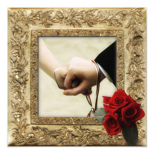 Handfasting Invitation: Old Compass Rose Invitation