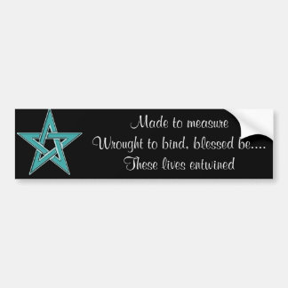 Handfasting Invitation Set Bumper Sticker