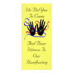 Handfasting Invitations Rack Card Template