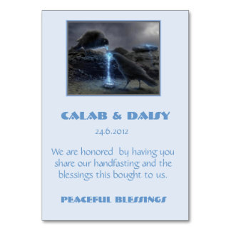 Handfasting Thank you Card Table Cards