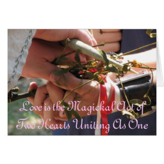 Handfasting/Wedding Invitation Note Card