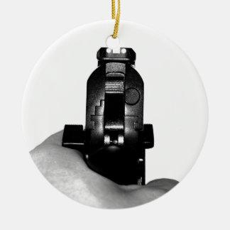 Handgun Christmas Ornament