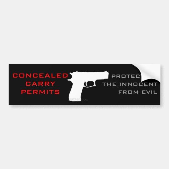 Handgun Permit Bumper Sticker