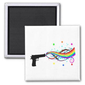 Handgun Shooting Stars Rainbows Refrigerator Magnets
