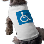 Handicap Accessibility Highway Sign Sleeveless Dog Shirt