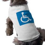 Handicap Accessibility Highway Sign Sleeveless Dog Shirt