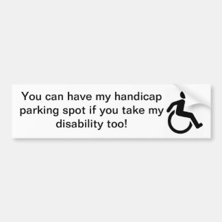 Handicap Bumper Sticker