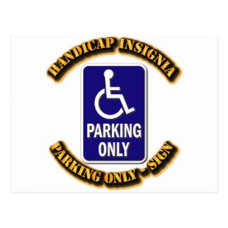 Handicap Insignia,Handicap sign,handicapped tag,ha Postcard