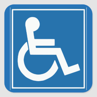 "Handicap Sign 1.5"" Sticker"