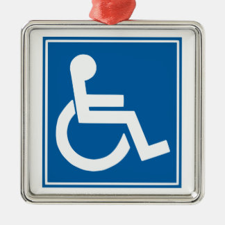 Handicap Sign Christmas Ornament