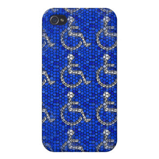Handicap sign mosaic phone case case for the iPhone 4