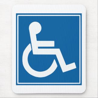 Handicap Sign Mouse Mat