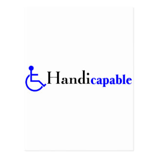 Handicapable Wheelchair Post Cards