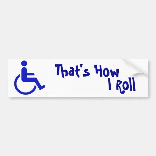 Handicapped Bumper Sticker