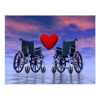 Handicapped persons love - 3D render Postcard