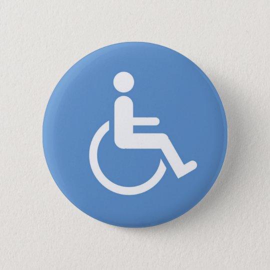 HANDICAPPED sign 6 Cm Round Badge