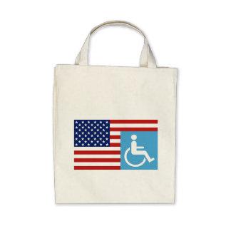 Handicapped Veteran Tote Bag