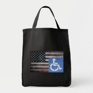 Handicapped Veteran Flag Canvas Bag