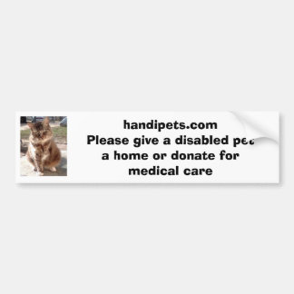 Handipets website bumper sticker